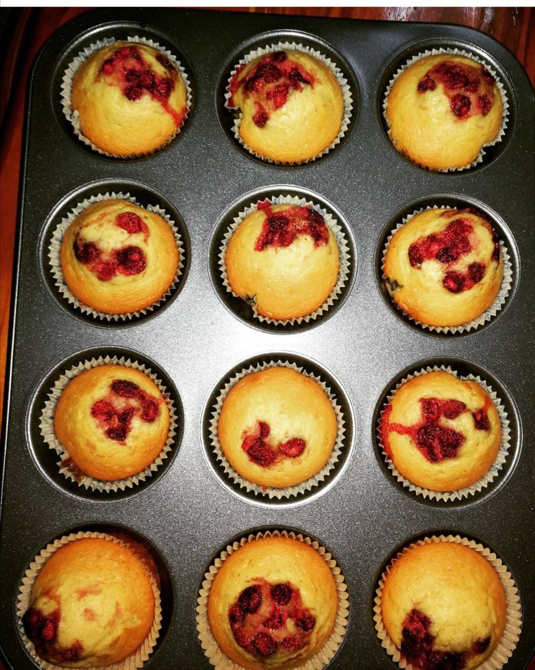 Muffin alle fragole di bosco