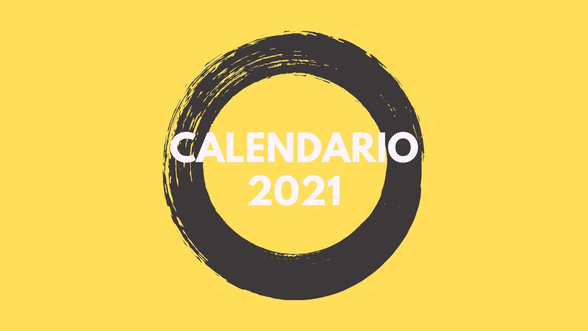 Regolamento: Calendario 2021