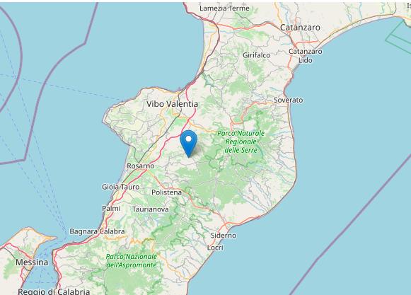 Forte scossa di terremoto nel Vibonese