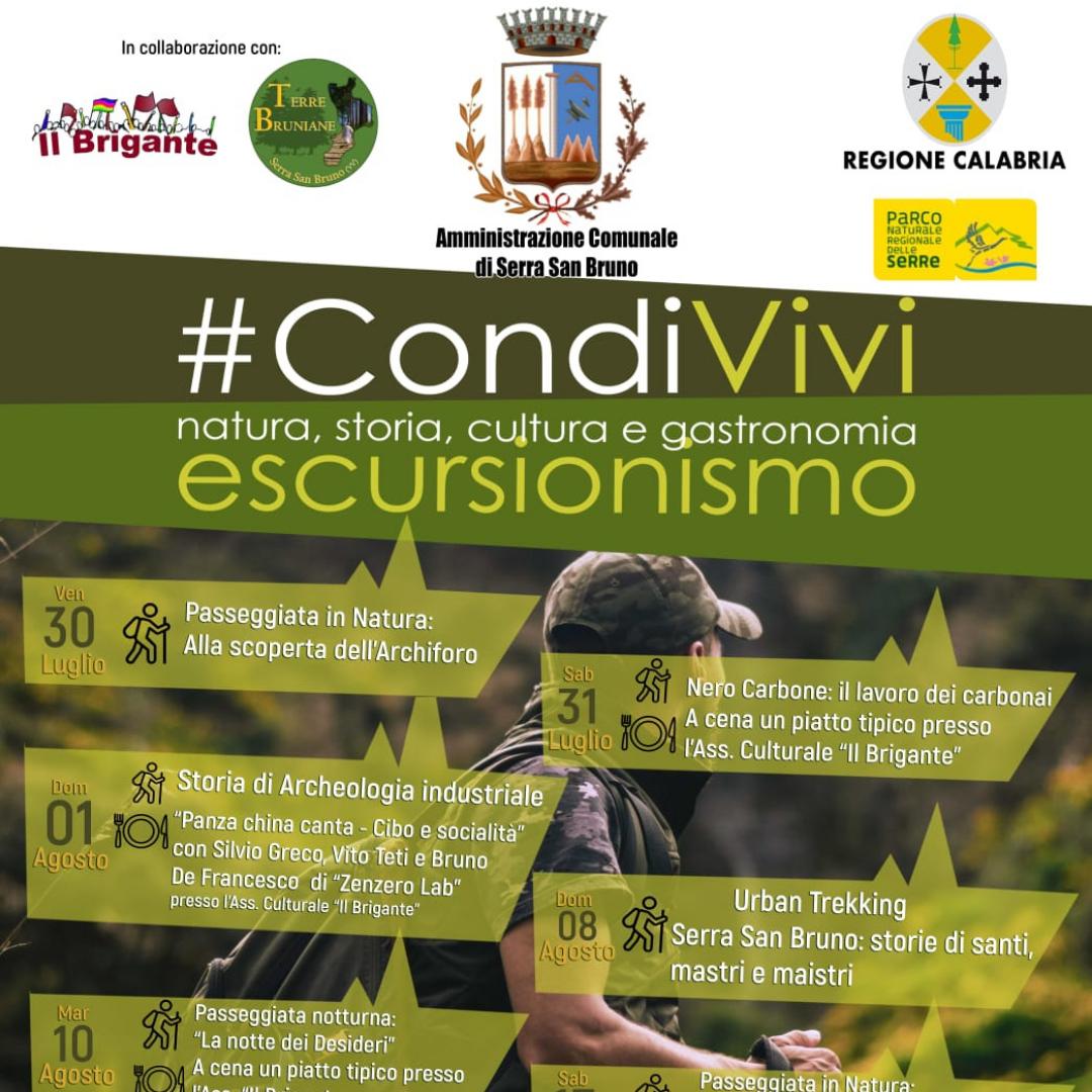 Parte il 30 Luglio a Serra San Bruno la prima edizione di #CondiVivi